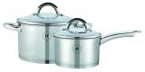 Set Edelstahl-Kasserolle und Saucentopf von Herenthal ® HT-SP226